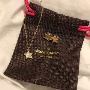 Golden Stars Kate Spade Earrings and Necklace Set